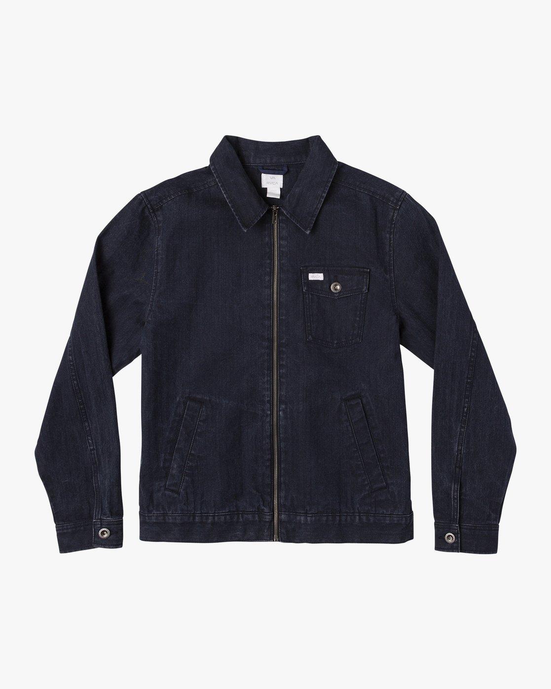 0 Hi - rade - Jeans-Jacke für Männer Blau Q1JKRFRVF9 RVCA