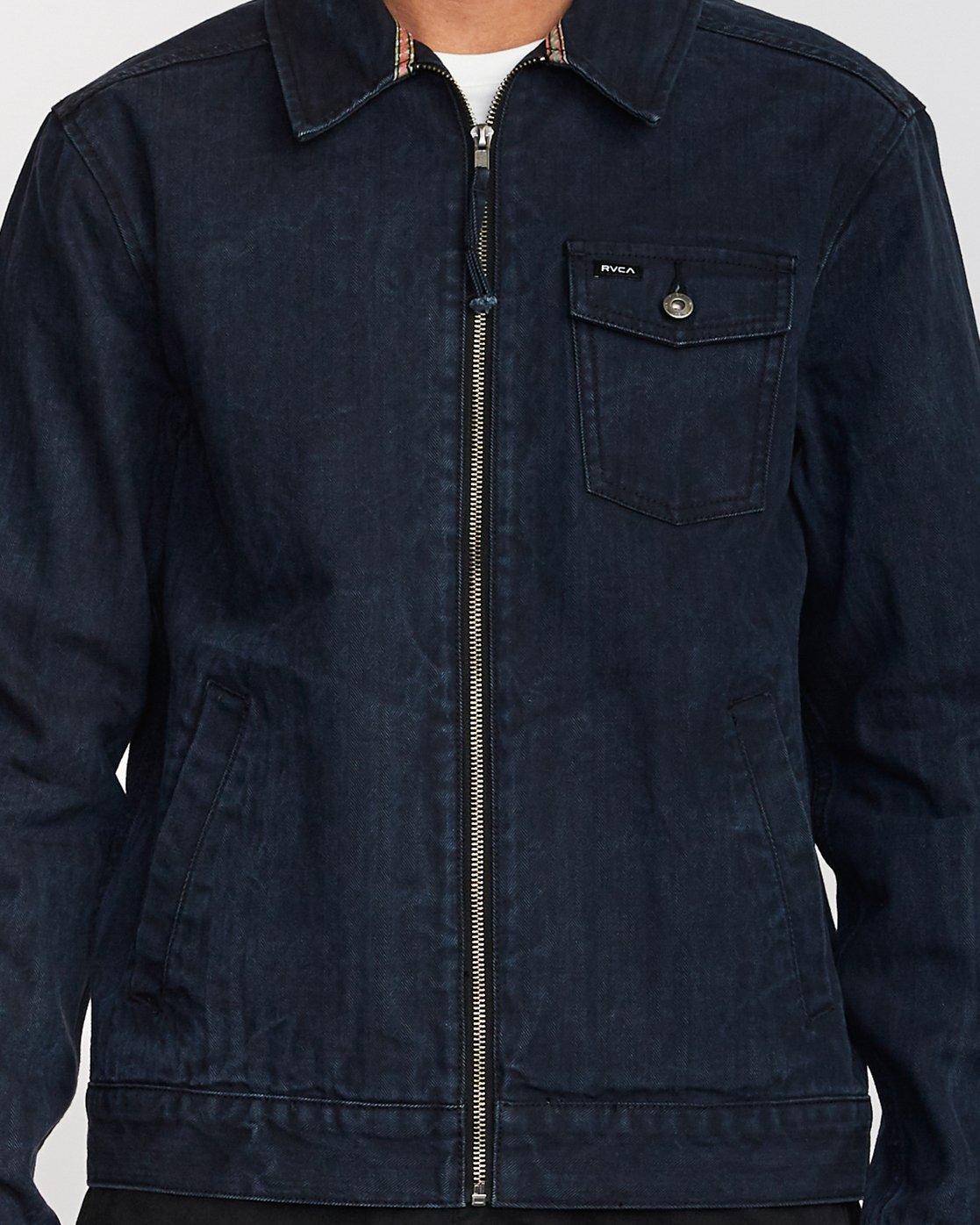 5 Hi - rade - Jeans-Jacke für Männer Blau Q1JKRFRVF9 RVCA