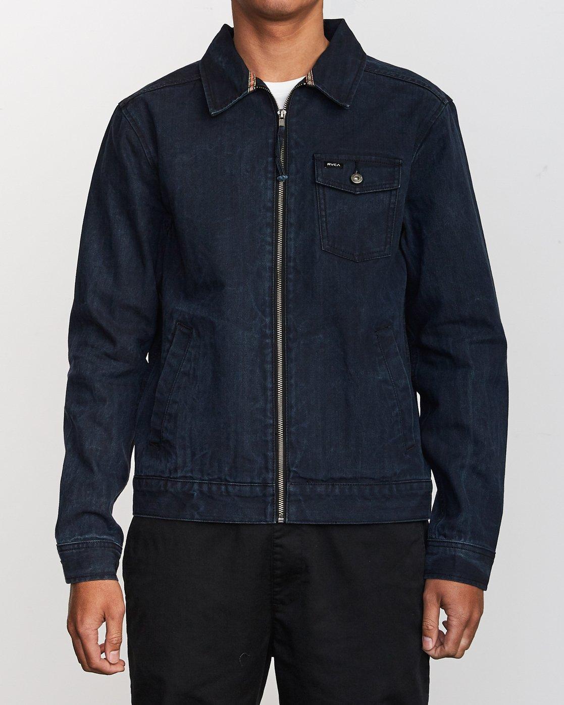2 Hi - rade - Jeans-Jacke für Männer Blau Q1JKRFRVF9 RVCA