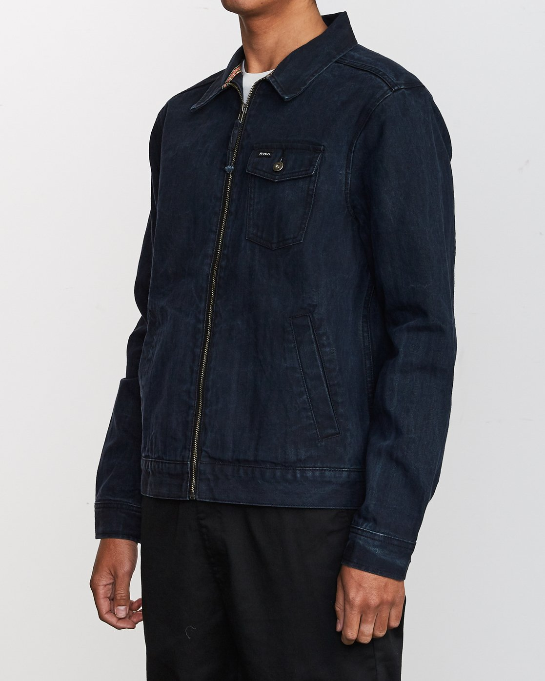 3 Hi - rade - Jeans-Jacke für Männer Blau Q1JKRFRVF9 RVCA