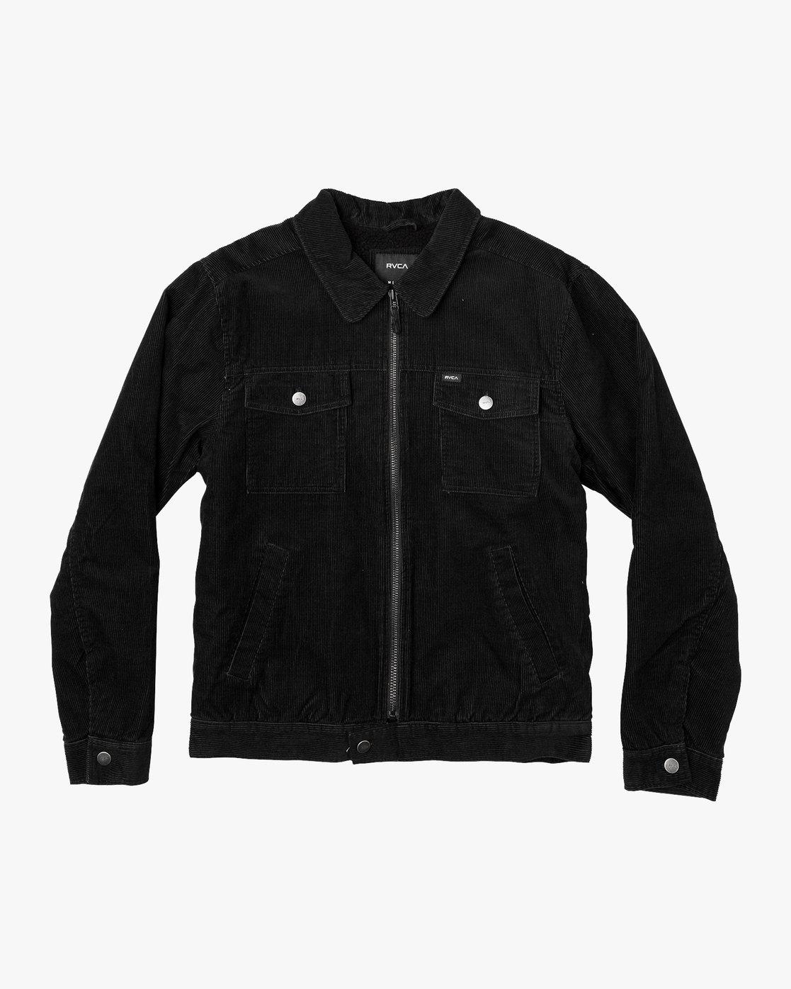 0 Easy Trucker  - Corduroy Sherpa Jacket Black Q1JKRJRVF9 RVCA
