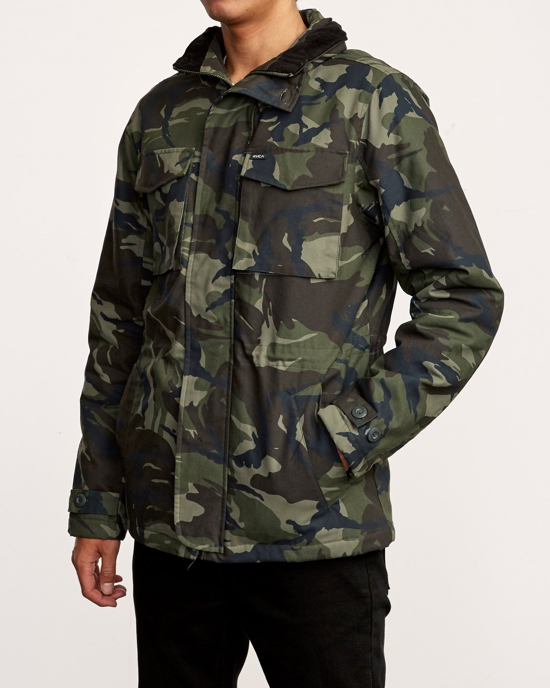 3 Field  - Canvas Coat Camo Q1JKRKRVF9 RVCA