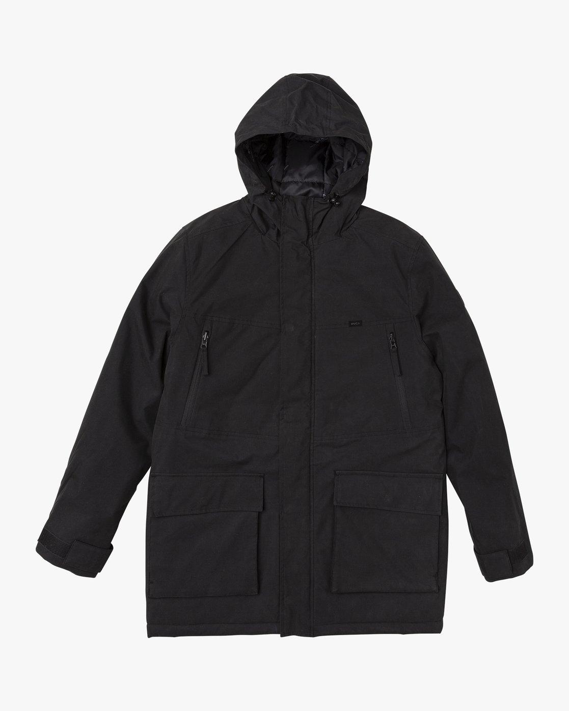 0 Patrol  - Parka Jacket Black Q1JKRLRVF9 RVCA