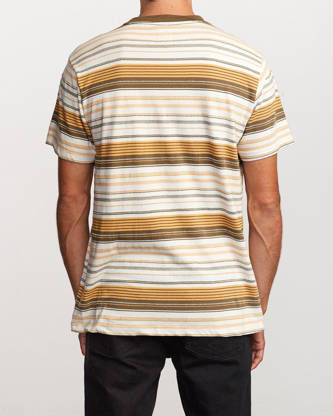 3 Deadbeat Stripe  - Kurzärmeliges Strick-T-Shirt für Männer  Q1KTRARVF9 RVCA