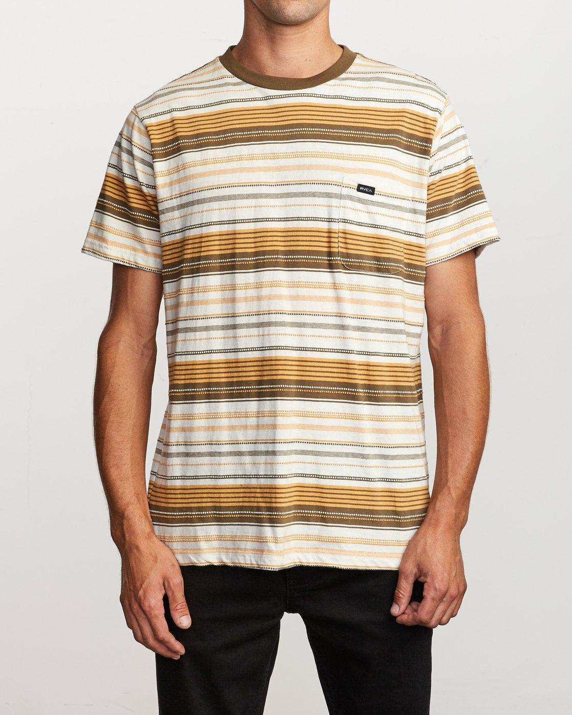 1 Deadbeat Stripe  - Kurzärmeliges Strick-T-Shirt für Männer  Q1KTRARVF9 RVCA