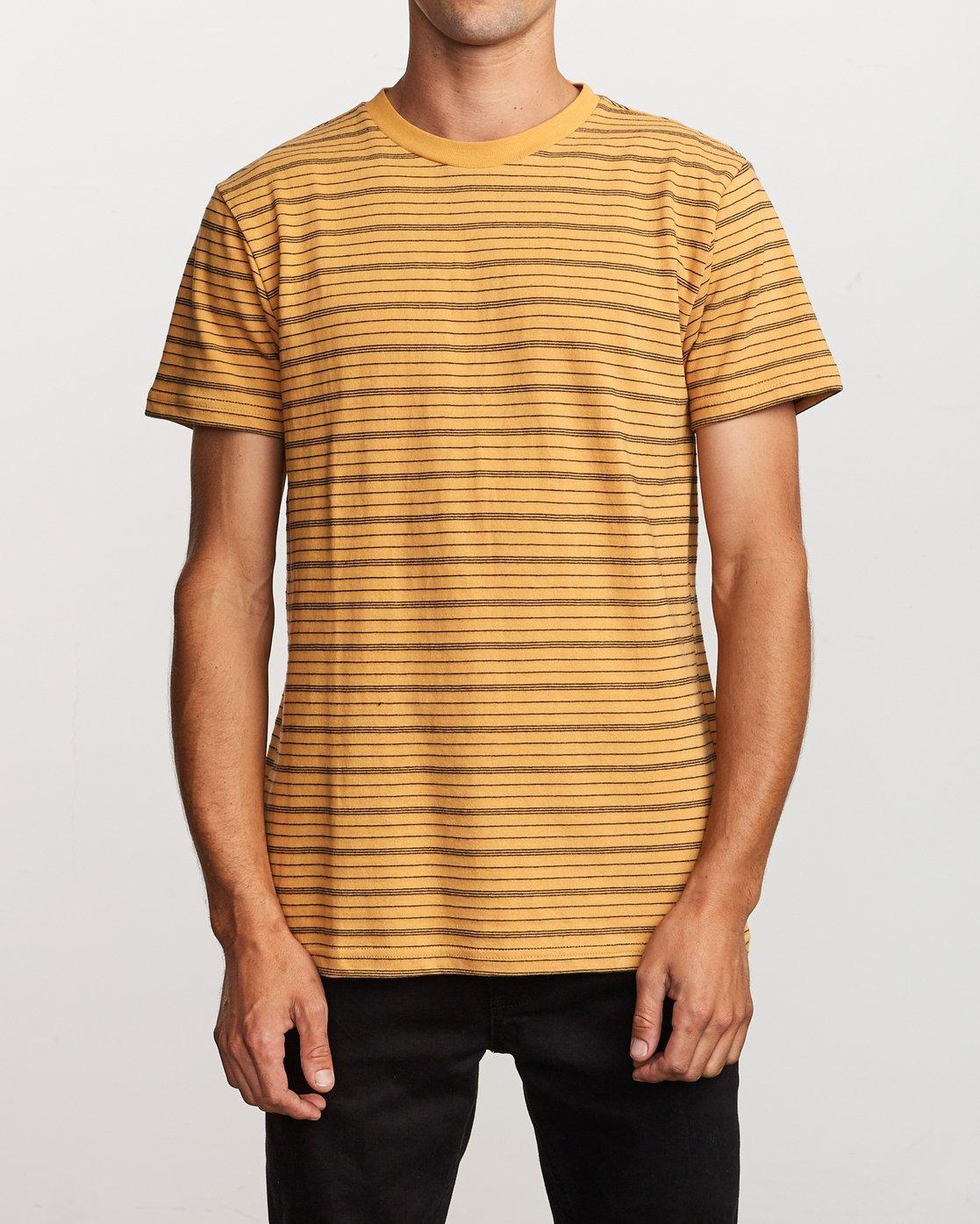 0 Amenity Stripe  - Knit T-Shirt Orange Q1KTRBRVF9 RVCA