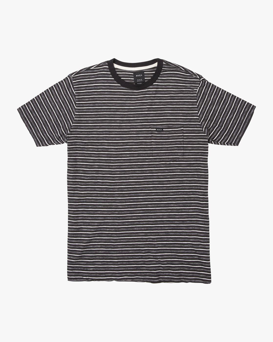 0 Foz Stripe Crew  - T-Shirt à manches courtes pour Homme Noir Q1KTRCRVF9 RVCA