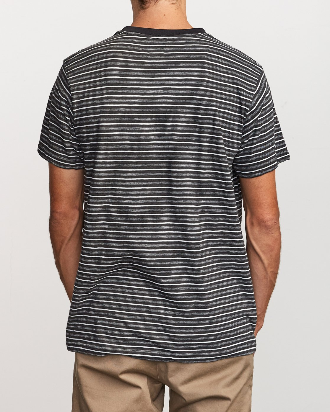3 Foz Stripe Crew  - T-Shirt à manches courtes pour Homme Noir Q1KTRCRVF9 RVCA