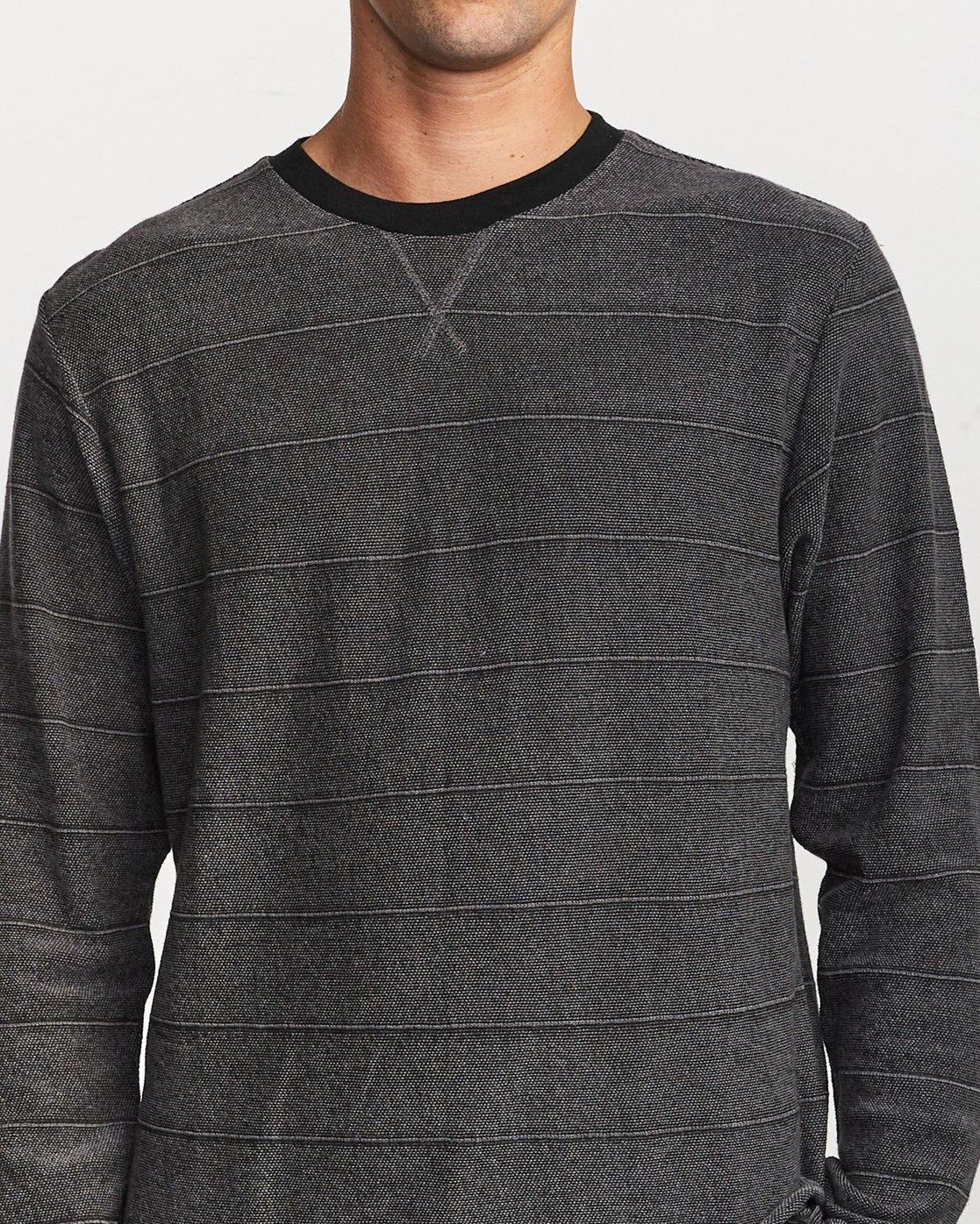 4 Luxury Long Sleeve Knit T - hirt Black Q1KTRERVF9 RVCA