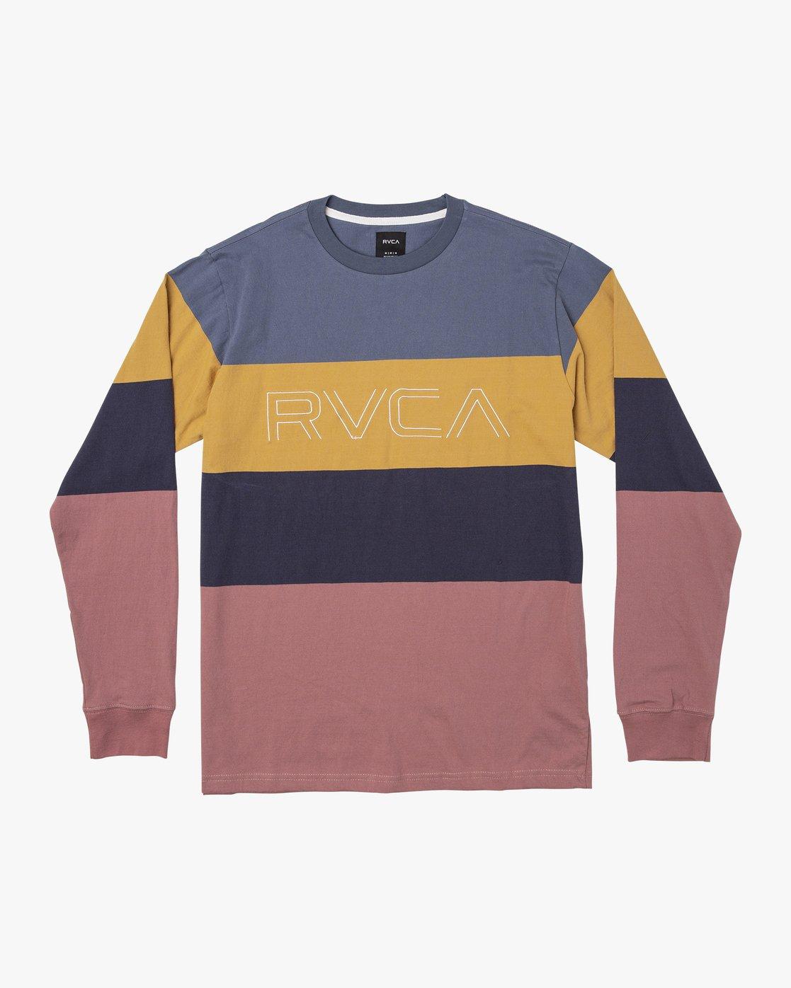 0 Shifty  - Long Sleeve Knit T-Shirt Blue Q1KTRJRVF9 RVCA