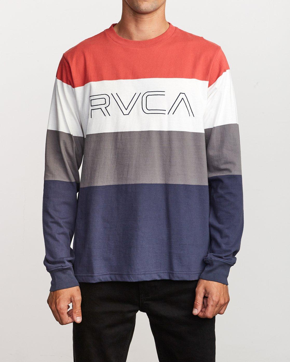0 Shifty  - Long Sleeve Knit T-Shirt Red Q1KTRJRVF9 RVCA