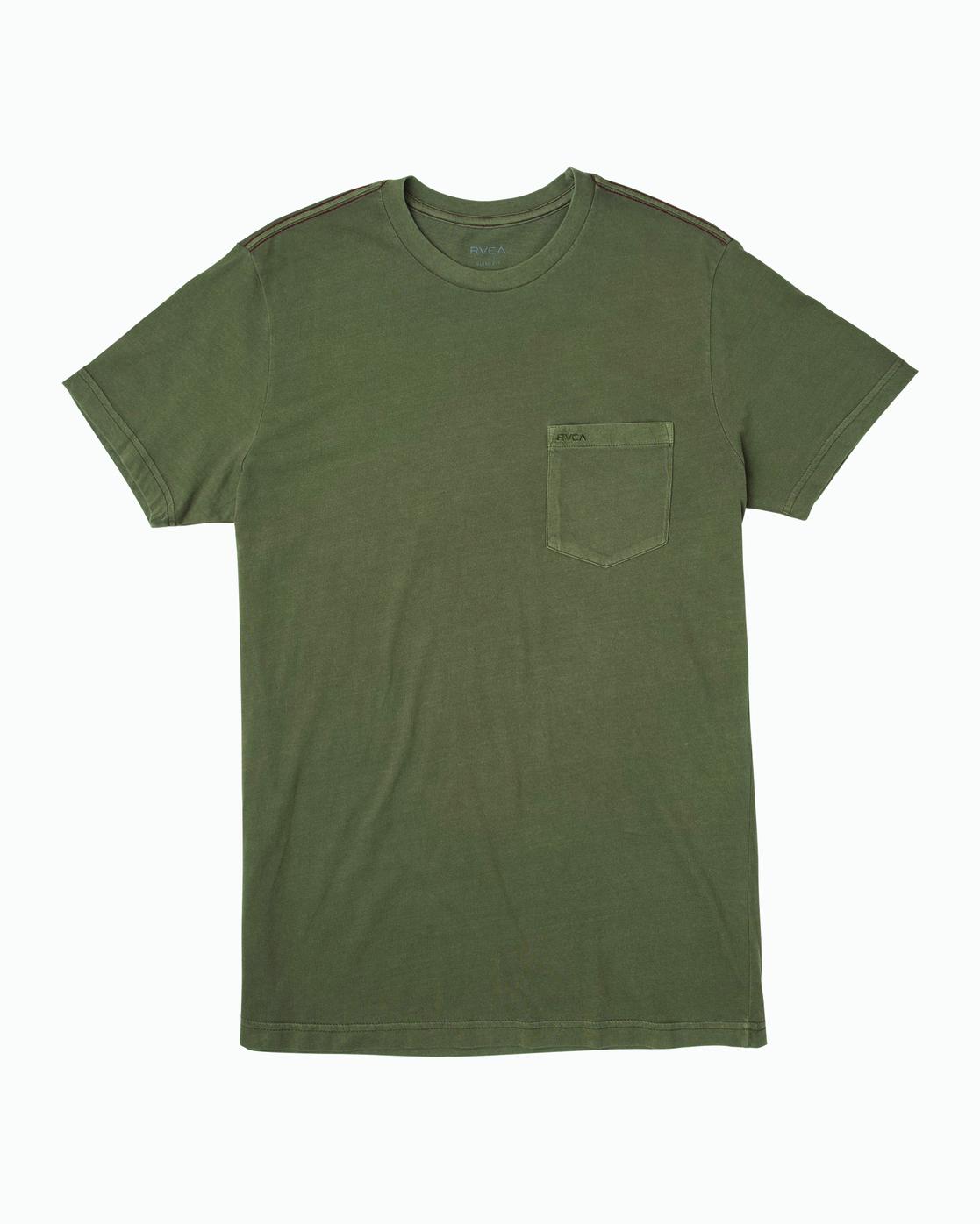 0 Ptc 2 Pigment - Pocket T-Shirt for Men Green Q1KTRORVF9 RVCA