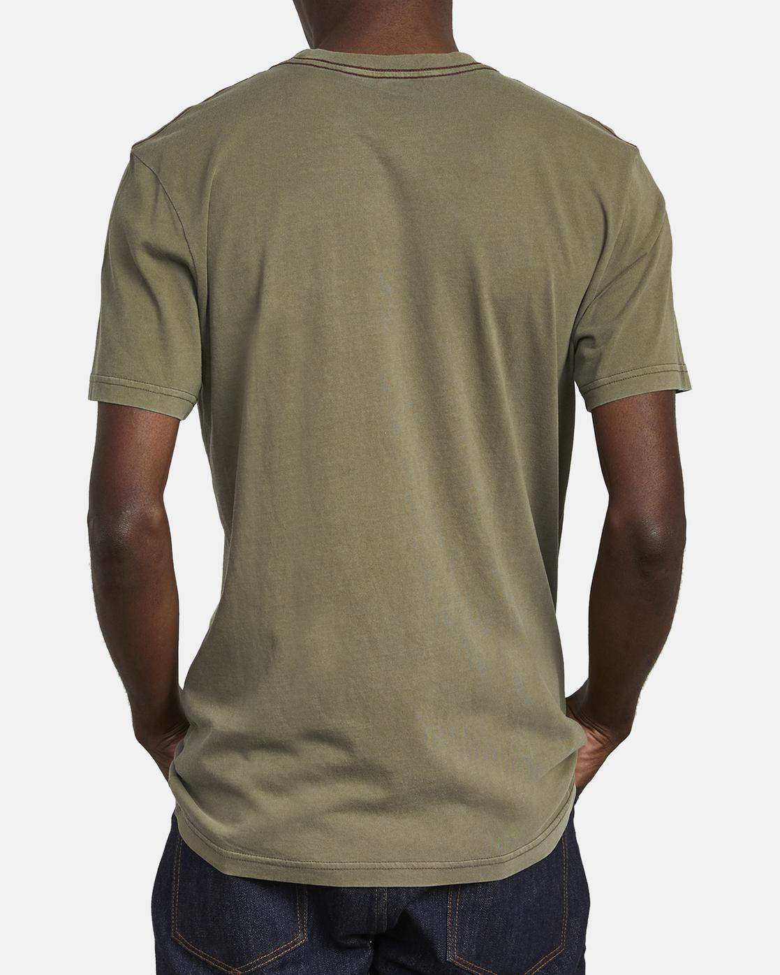 5 Ptc 2 Pigment - Pocket T-Shirt for Men Green Q1KTRORVF9 RVCA