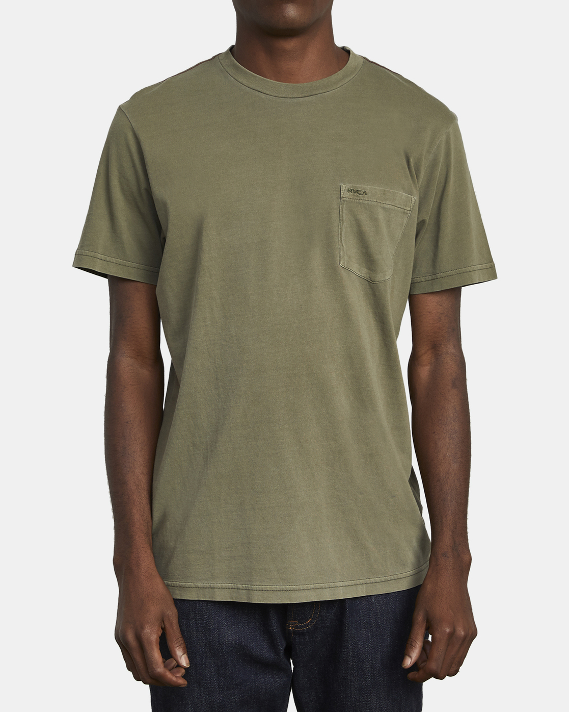 1 Ptc 2 Pigment - Pocket T-Shirt for Men Green Q1KTRORVF9 RVCA
