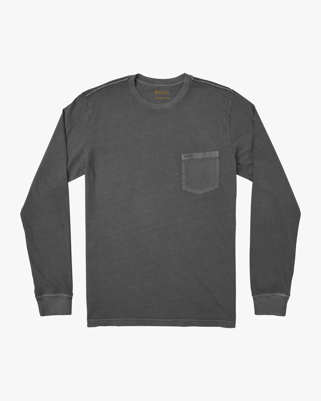 0 PTC Pigment  - Camiseta de manga larga para Hombre Negro Q1KTRPRVF9 RVCA