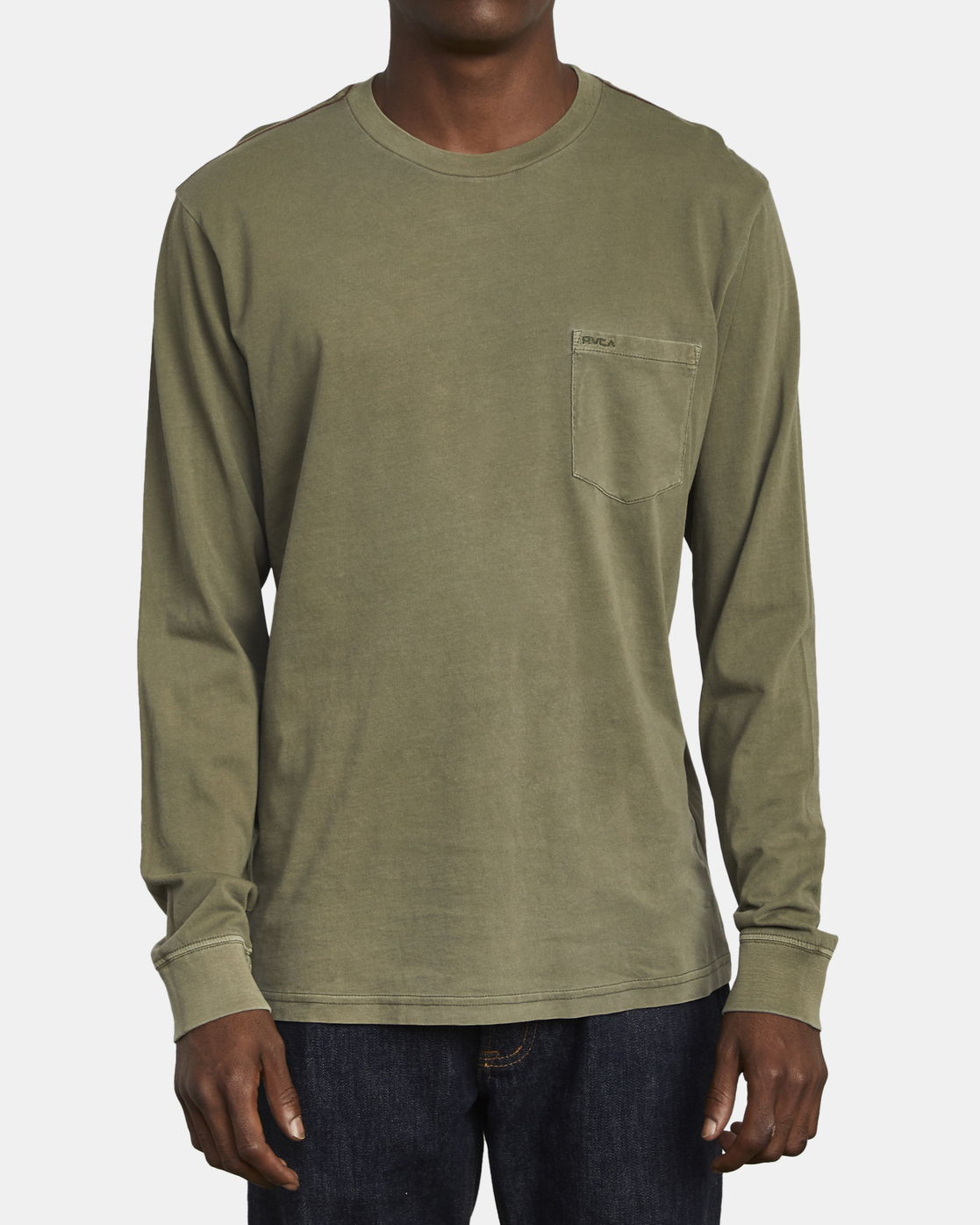 1 PTC Pigment  - Long Sleeve T-Shirt Green Q1KTRPRVF9 RVCA