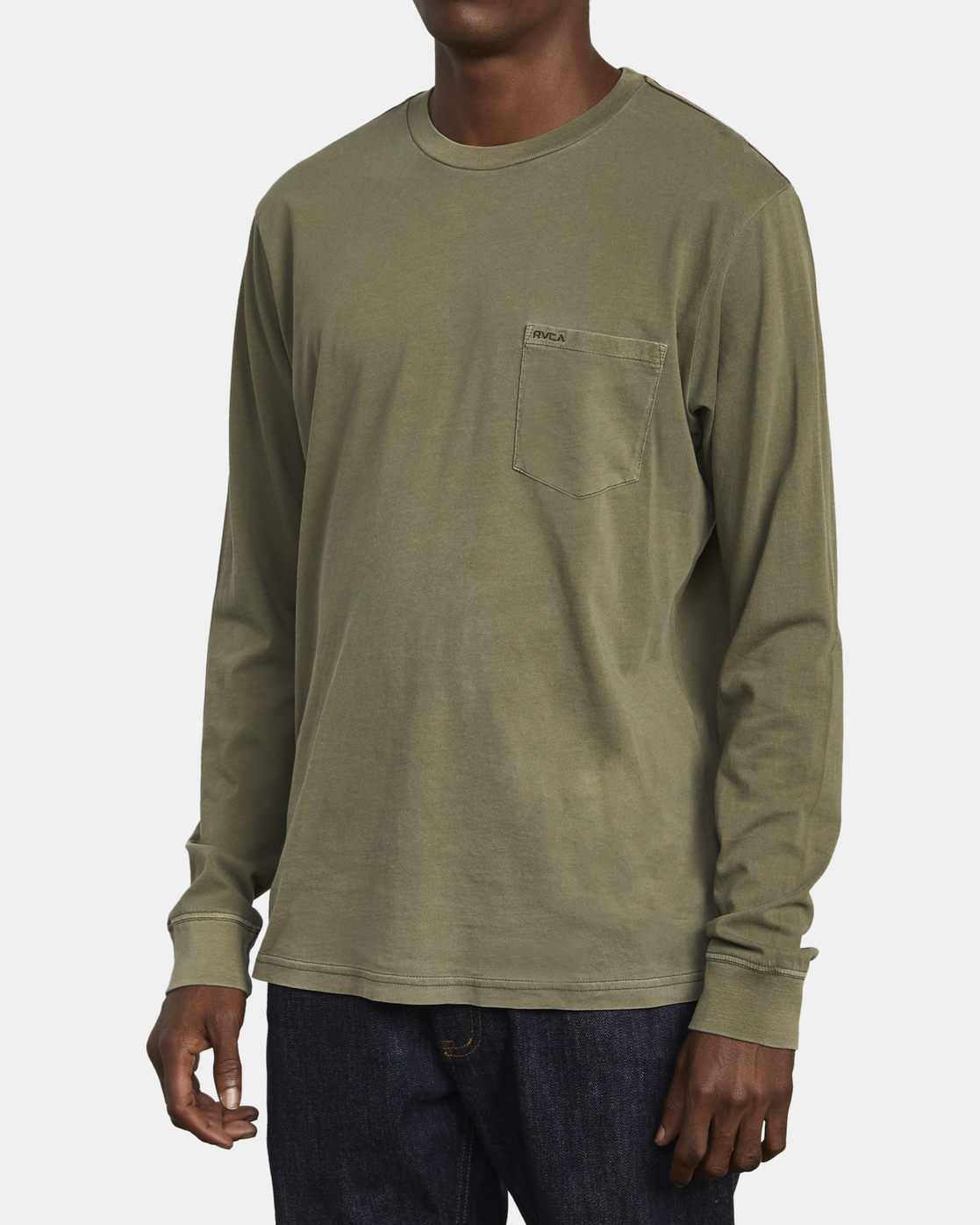 2 PTC Pigment  - Long Sleeve T-Shirt Green Q1KTRPRVF9 RVCA