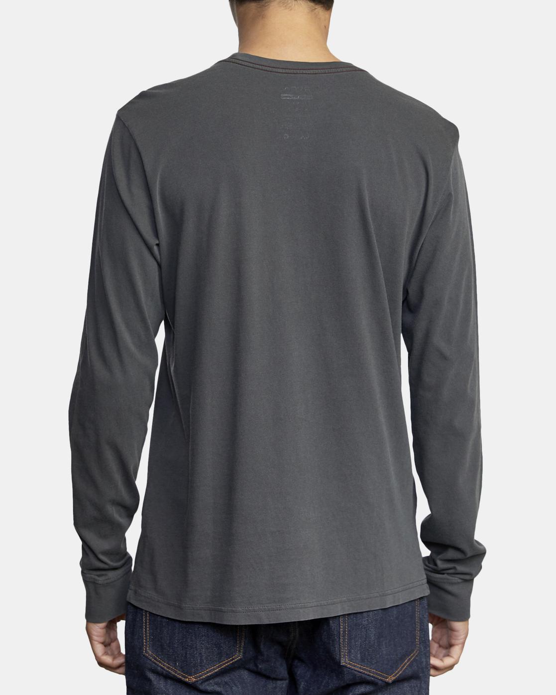 3 PTC Pigment  - Camiseta de manga larga para Hombre Negro Q1KTRPRVF9 RVCA