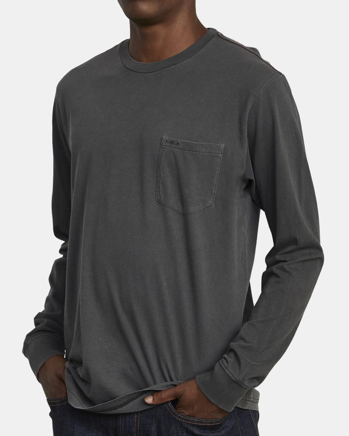 3 PTC Pigment  - Long Sleeve T-Shirt Black Q1KTRPRVF9 RVCA