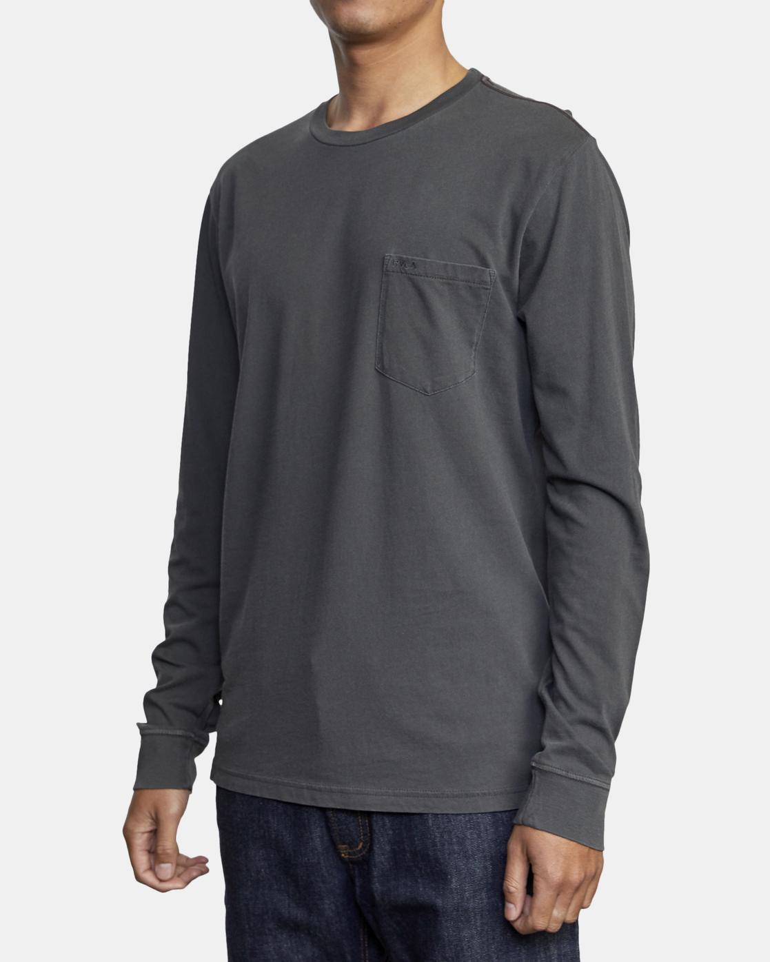 2 PTC Pigment  - Camiseta de manga larga para Hombre Negro Q1KTRPRVF9 RVCA