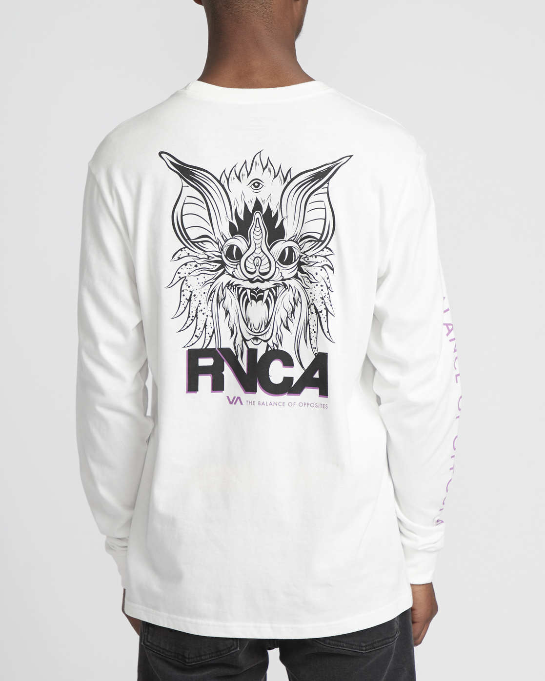 2 Roberto Rodriguez Redondo Screaming Bat  - Long Sleeve T-Shirt White Q1LSRDRVF9 RVCA