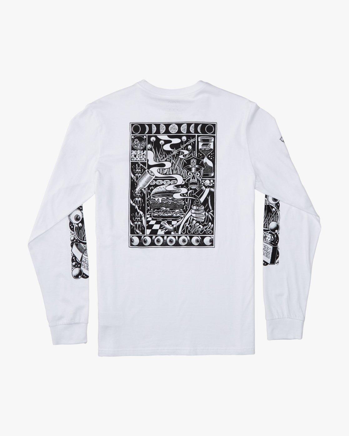 0 Martin Ander Mander  - Long Sleeve T-Shirt for Men White Q1LSRERVF9 RVCA