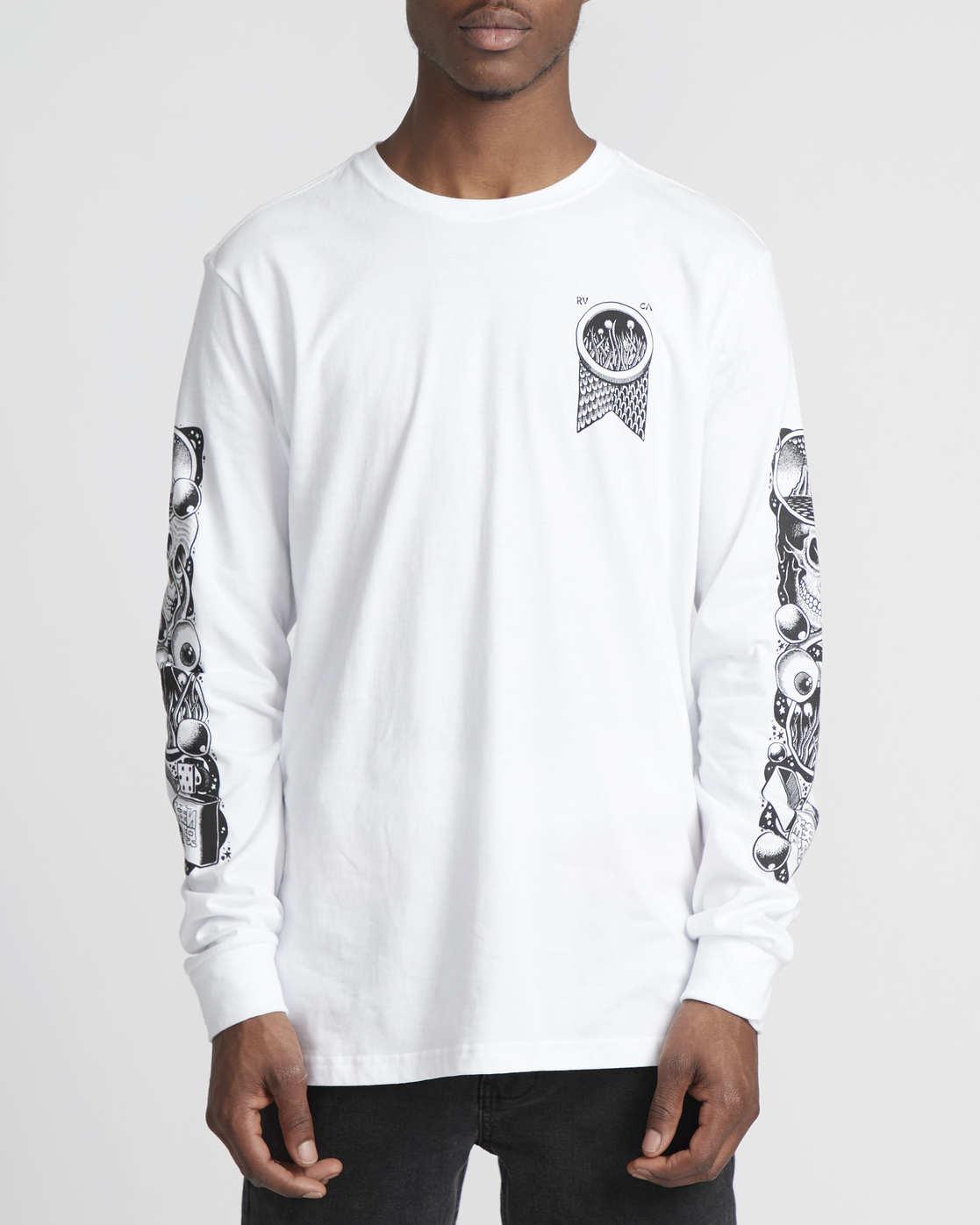2 Martin Ander Mander  - Long Sleeve T-Shirt for Men White Q1LSRERVF9 RVCA