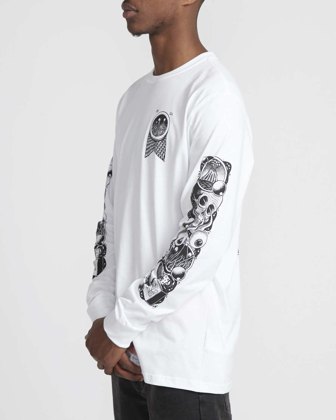 3 Martin Ander Mander  - Long Sleeve T-Shirt for Men White Q1LSRERVF9 RVCA
