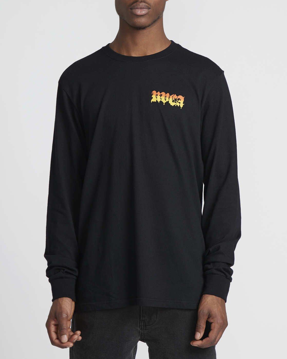 0 Martin Ander Mander  - Long Sleeve T-Shirt Black Q1LSRERVF9 RVCA