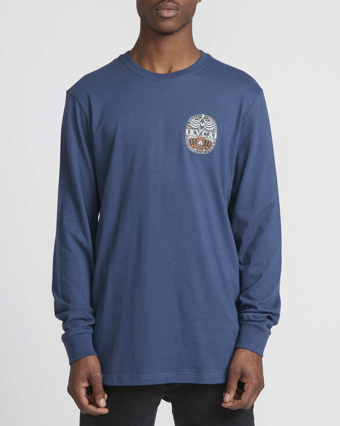 0 Martin Ander Mander  - Maglietta a Maniche Lunghe da Uomo Blue Q1LSRERVF9 RVCA