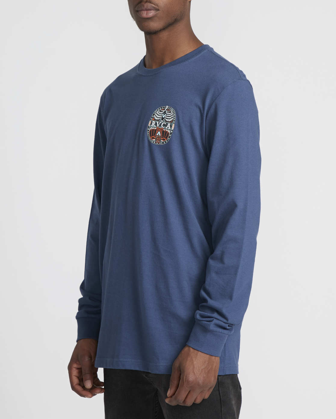 1 Martin Ander Mander  - Maglietta a Maniche Lunghe da Uomo Blue Q1LSRERVF9 RVCA