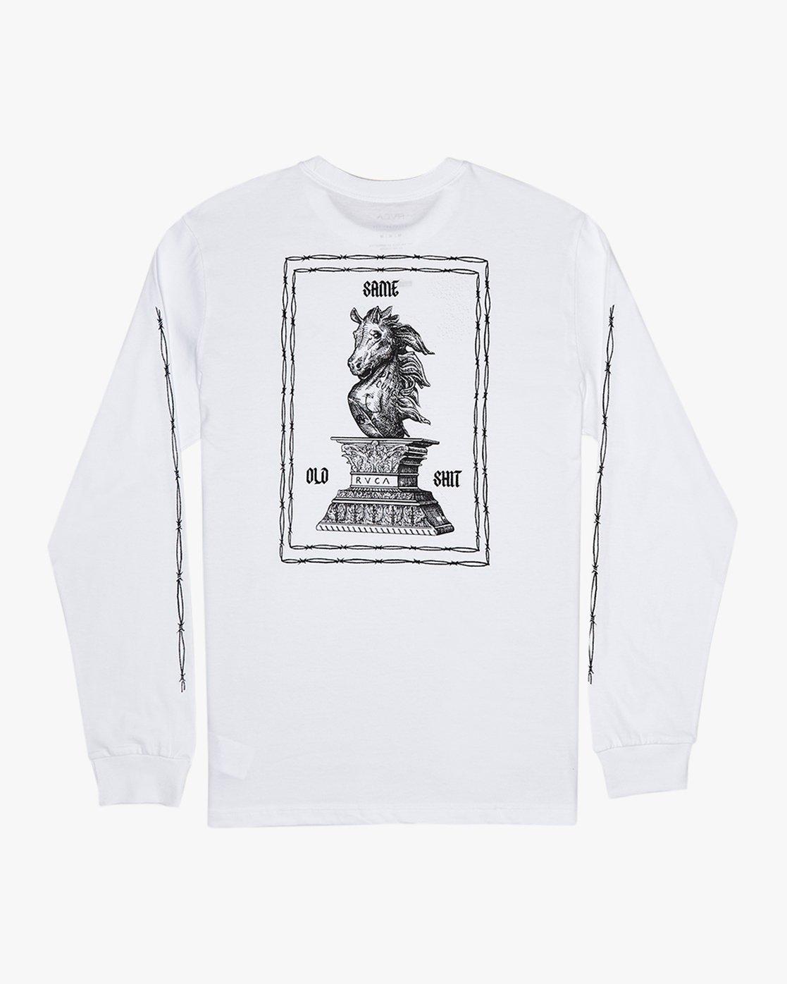 0 Benjamin Jeanjean JJ Mix  - Long Sleeve T-Shirt White Q1LSRFRVF9 RVCA