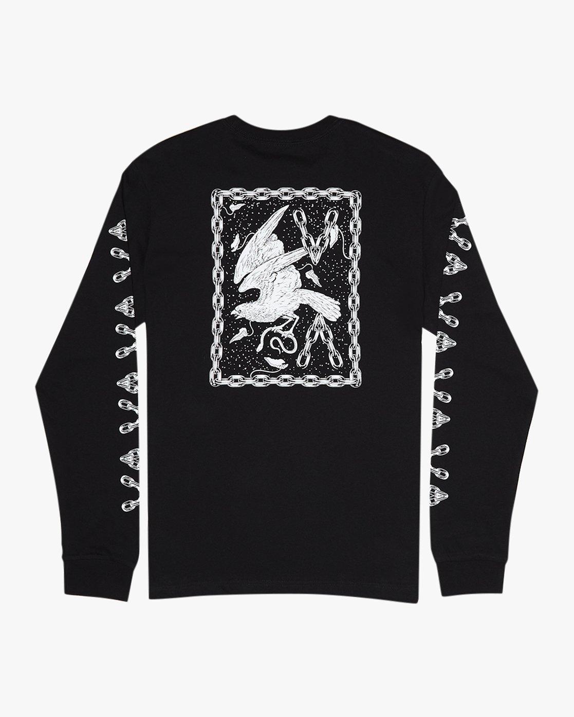 1 Benjamin Jeanjean JJ Mix  - Long Sleeve T-Shirt for Men Black Q1LSRFRVF9 RVCA
