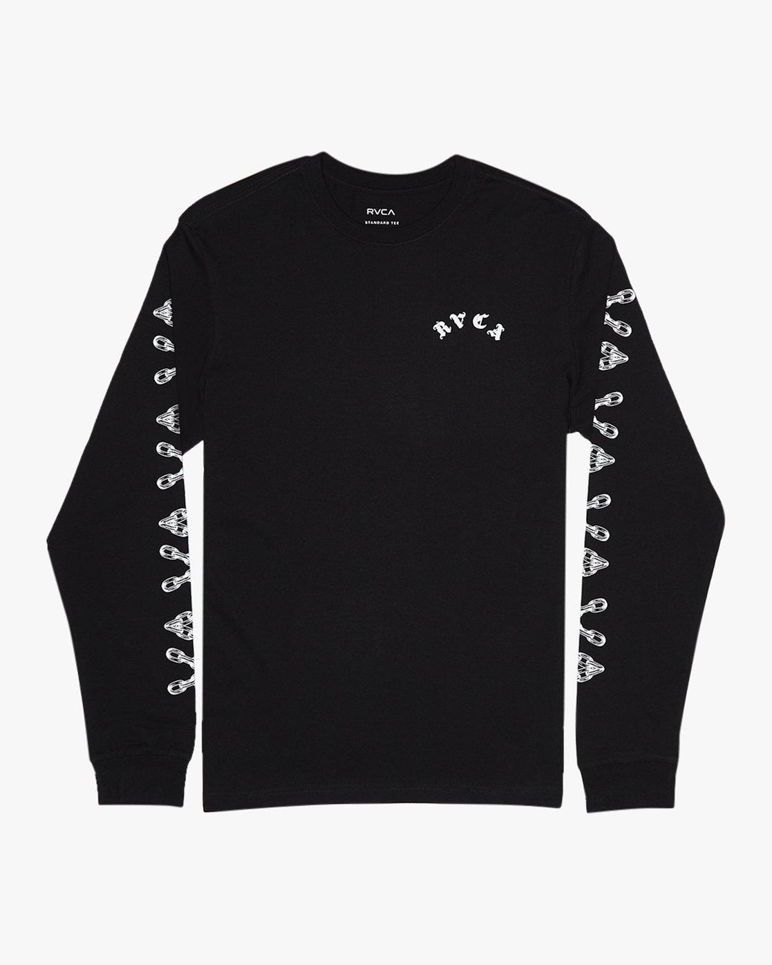 0 Benjamin Jeanjean JJ Mix  - Long Sleeve T-Shirt for Men Black Q1LSRFRVF9 RVCA