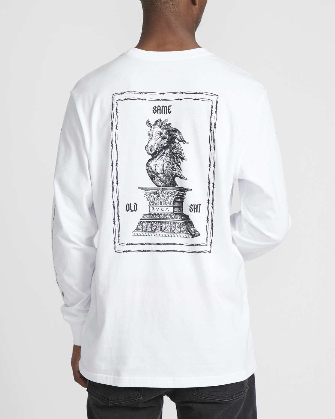 5 Benjamin Jeanjean JJ Mix  - Long Sleeve T-Shirt White Q1LSRFRVF9 RVCA