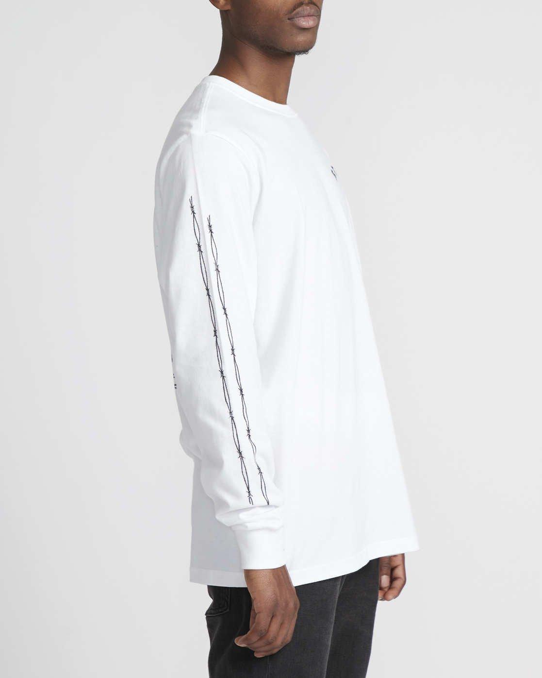 4 Benjamin Jeanjean JJ Mix  - Long Sleeve T-Shirt White Q1LSRFRVF9 RVCA