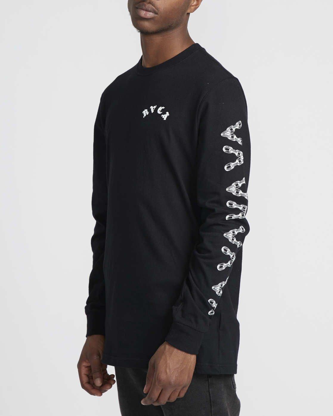 3 Benjamin Jeanjean JJ Mix  - Long Sleeve T-Shirt for Men Black Q1LSRFRVF9 RVCA