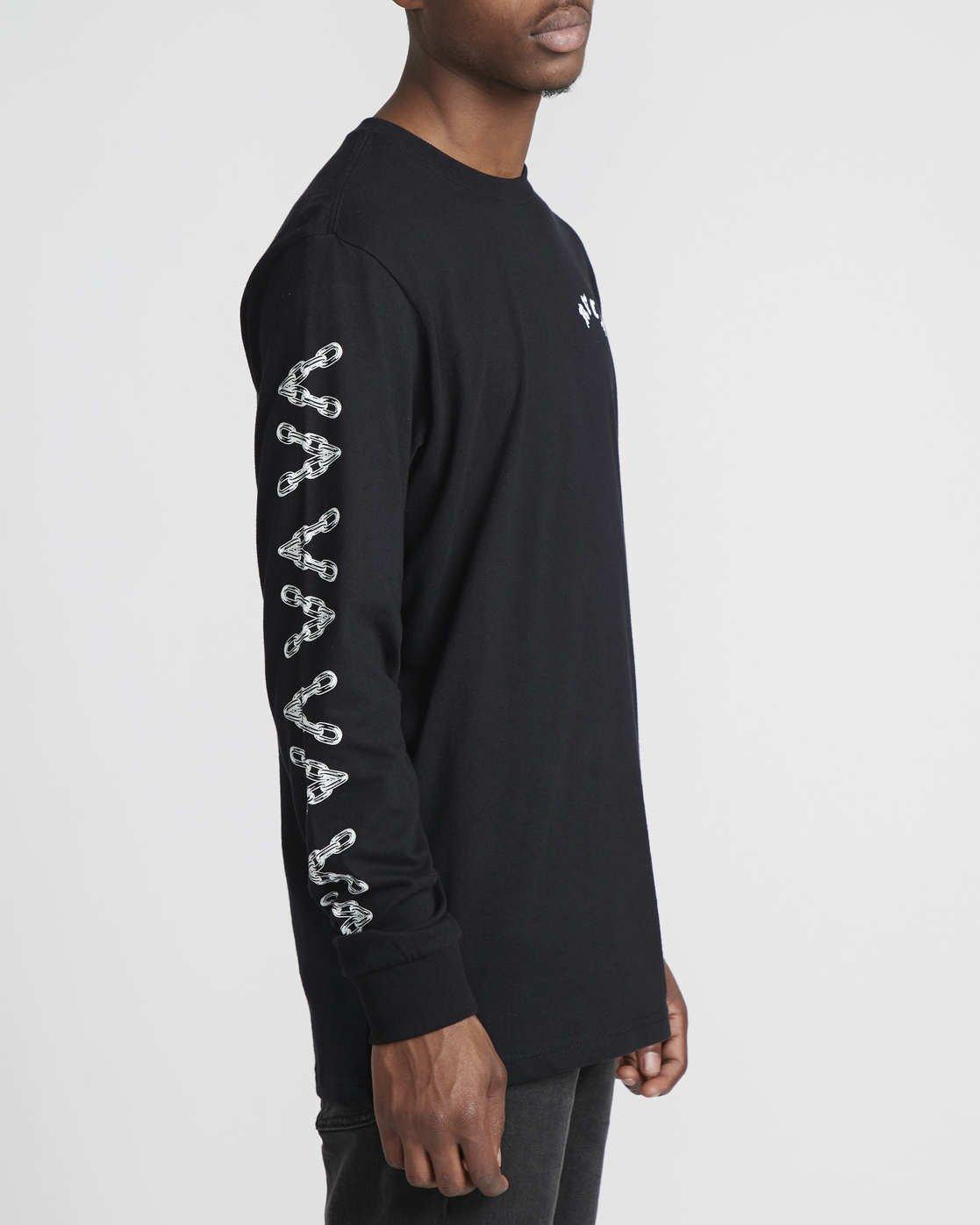 4 Benjamin Jeanjean JJ Mix  - Long Sleeve T-Shirt for Men Black Q1LSRFRVF9 RVCA