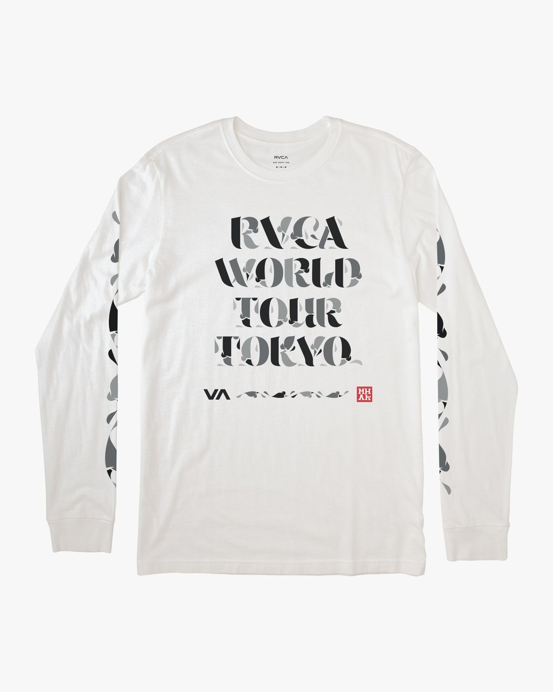0 Mhak Tokyo - Long Sleeve T-Shirt for Men White Q1LSTCRVF9 RVCA