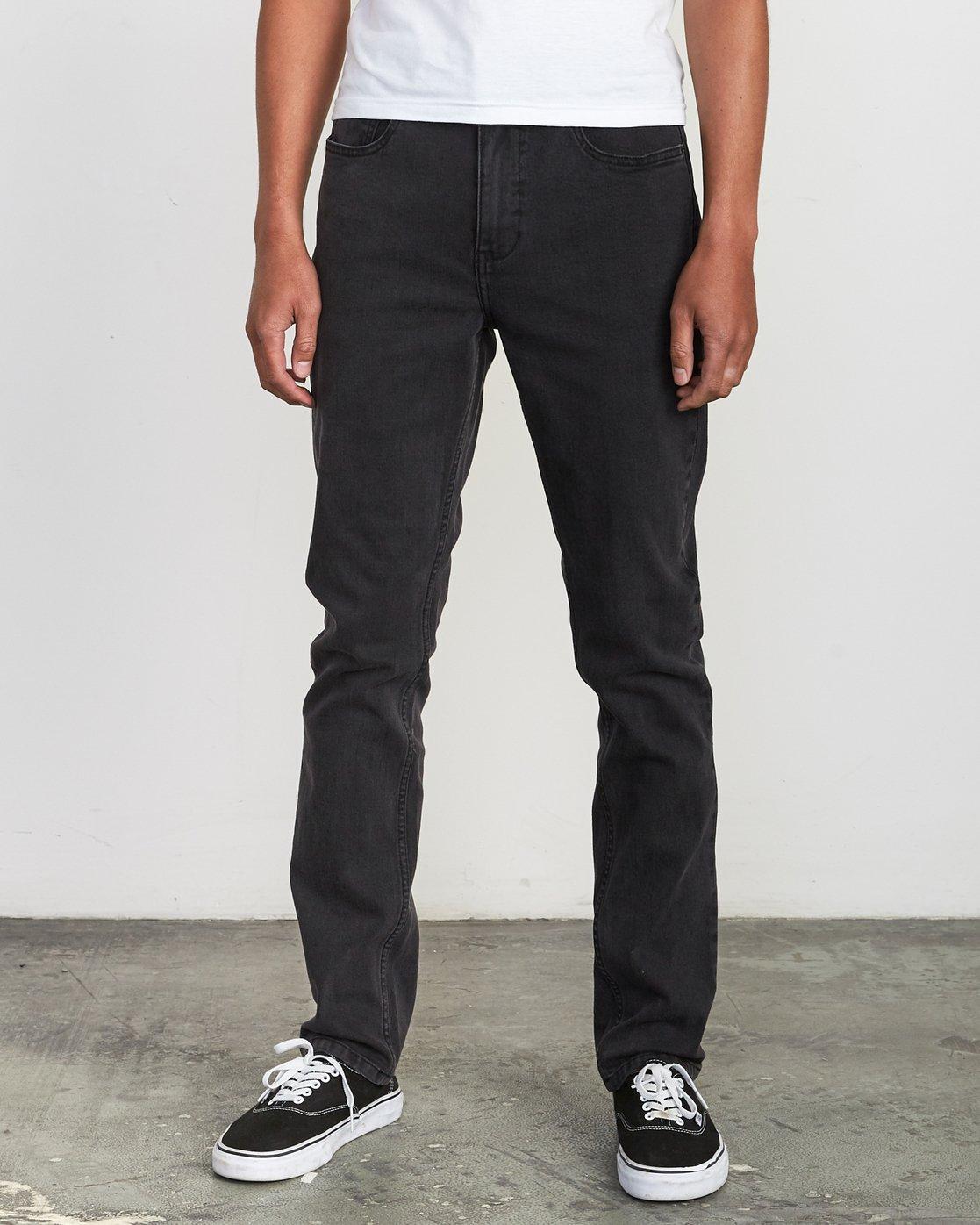 0 Hexed Denim - Jeans in Denim con Vestibilità Slim da Uomo Black Q1PNRCRVF9 RVCA