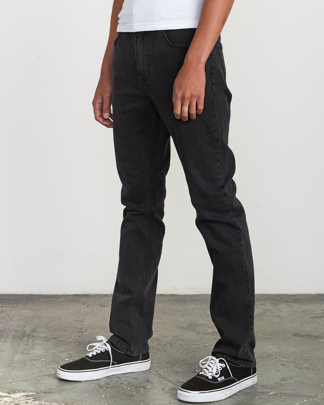 1 Hexed Denim - Jeans in Denim con Vestibilità Slim da Uomo Black Q1PNRCRVF9 RVCA