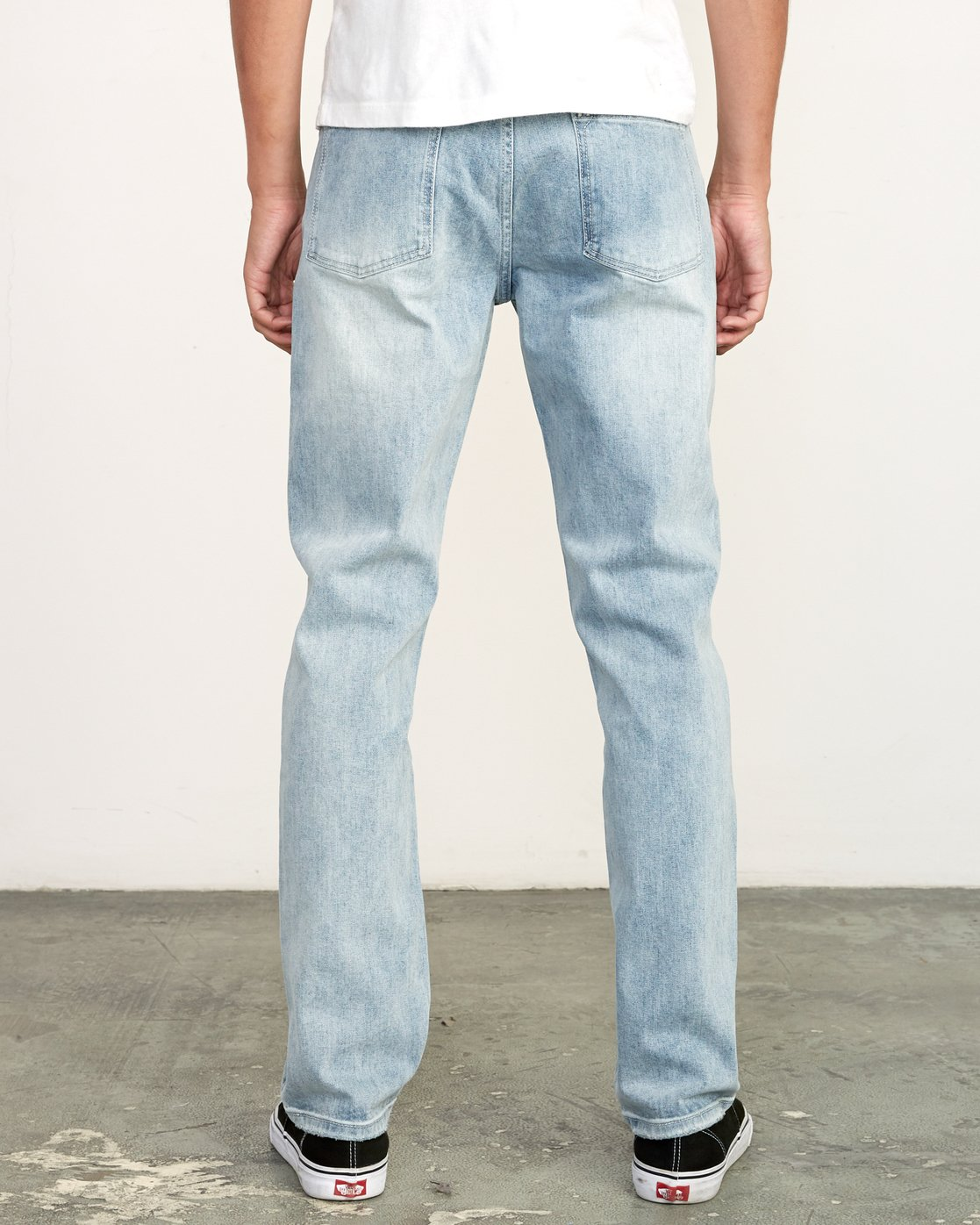 4 Weekend Denim - Jeans in Denim con Vestibilità Straight da Uomo Beige Q1PNRERVF9 RVCA