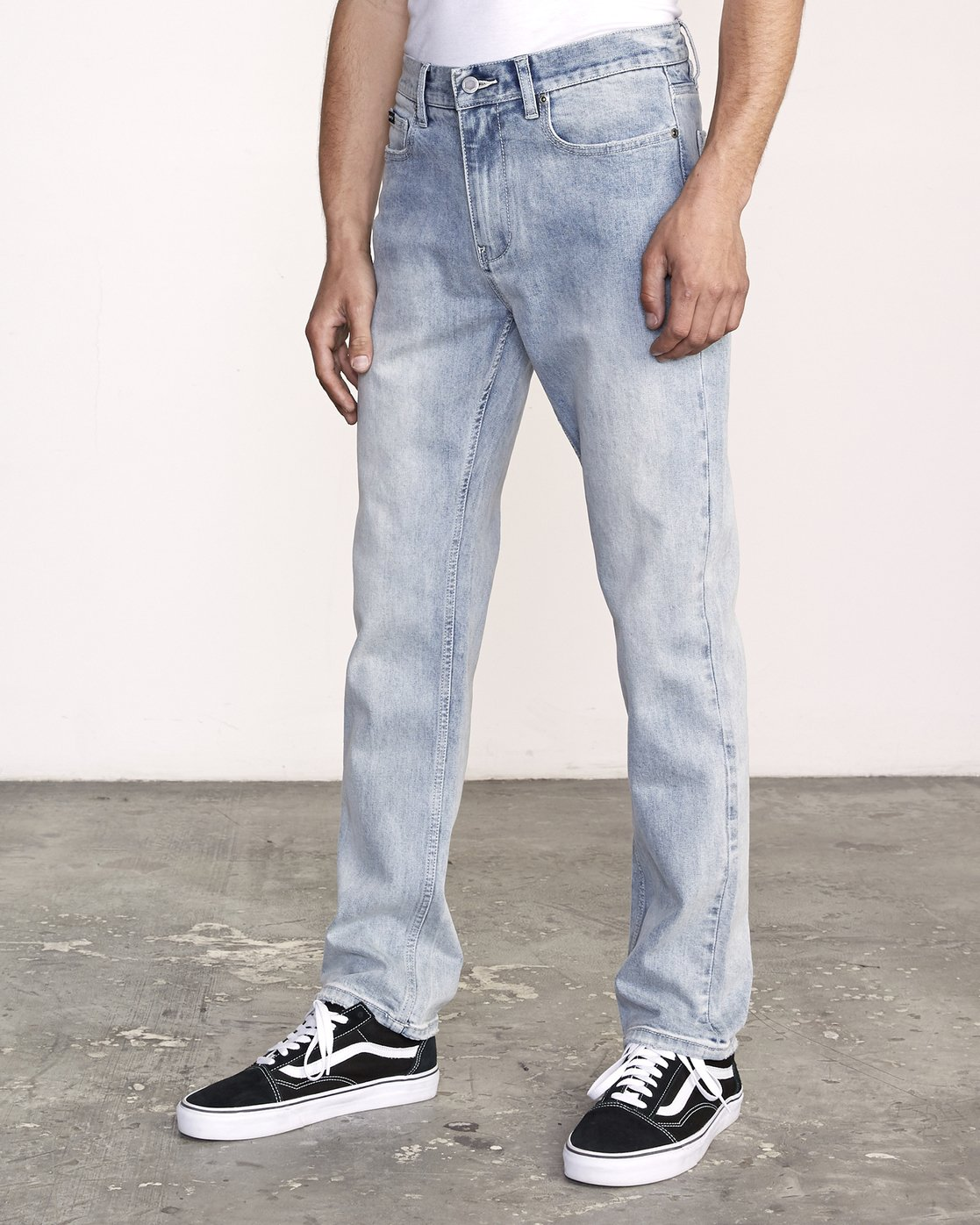 1 Weekend Denim - Jeans in Denim con Vestibilità Straight da Uomo Beige Q1PNRERVF9 RVCA