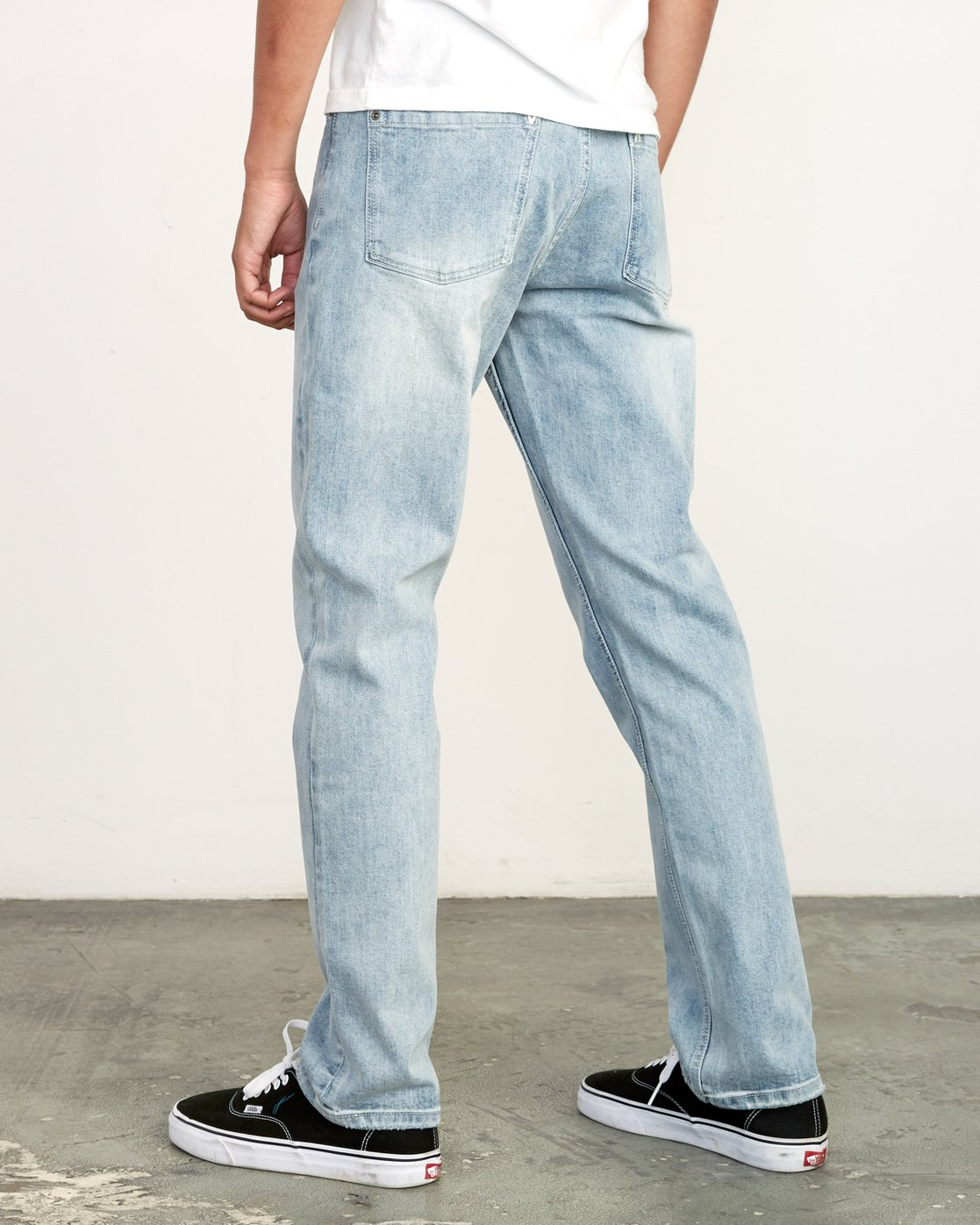 3 Weekend Denim - Jeans in Denim con Vestibilità Straight da Uomo Beige Q1PNRERVF9 RVCA