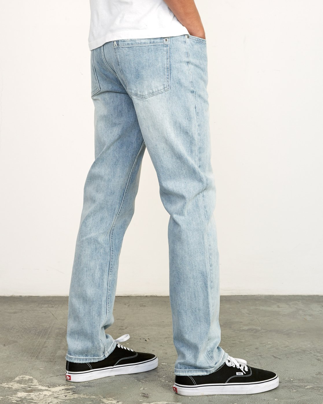 5 Weekend Denim - Jeans in Denim con Vestibilità Straight da Uomo Beige Q1PNRERVF9 RVCA