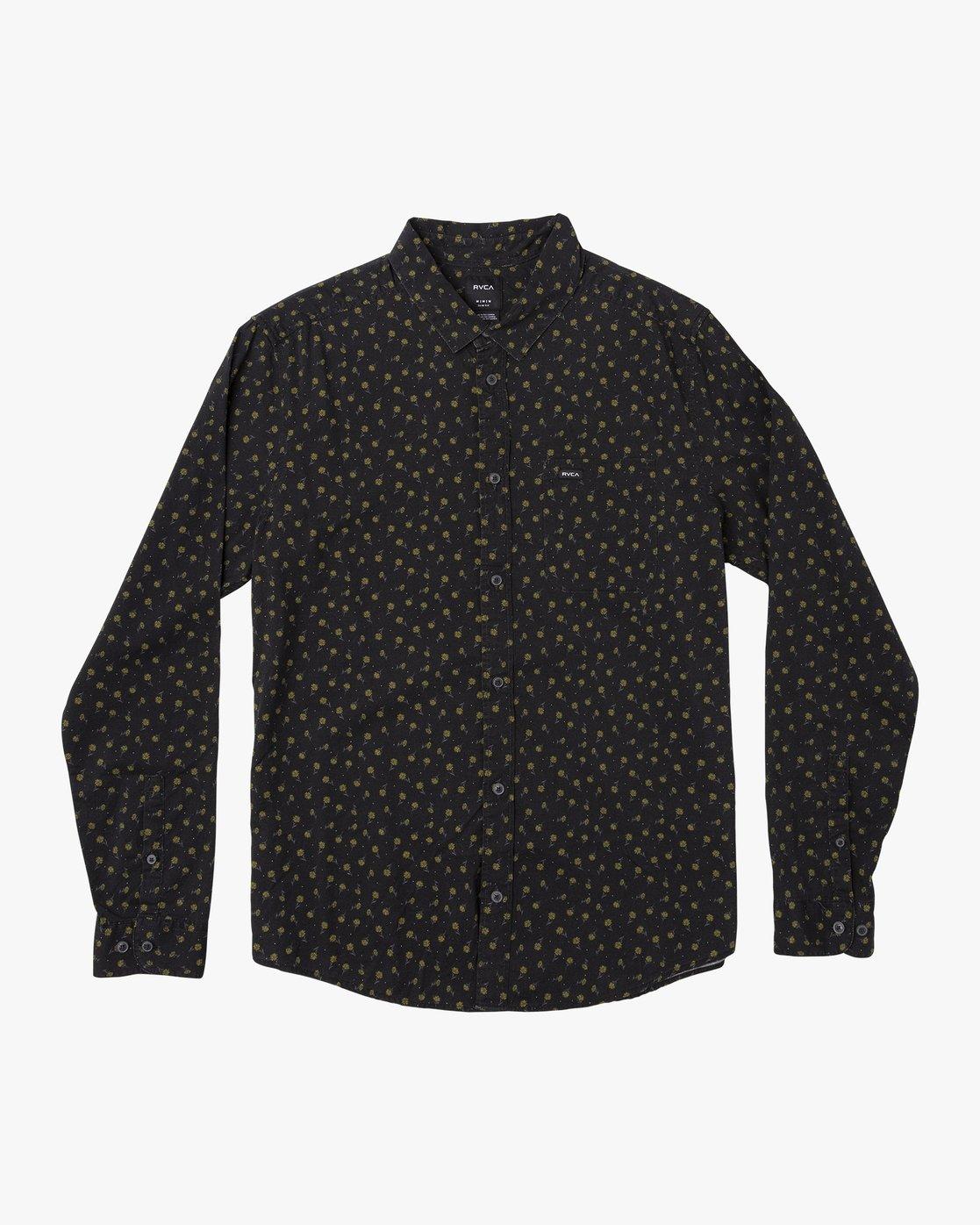 0 Prelude Floral  - Long Sleeve Shirt Black Q1SHRBRVF9 RVCA
