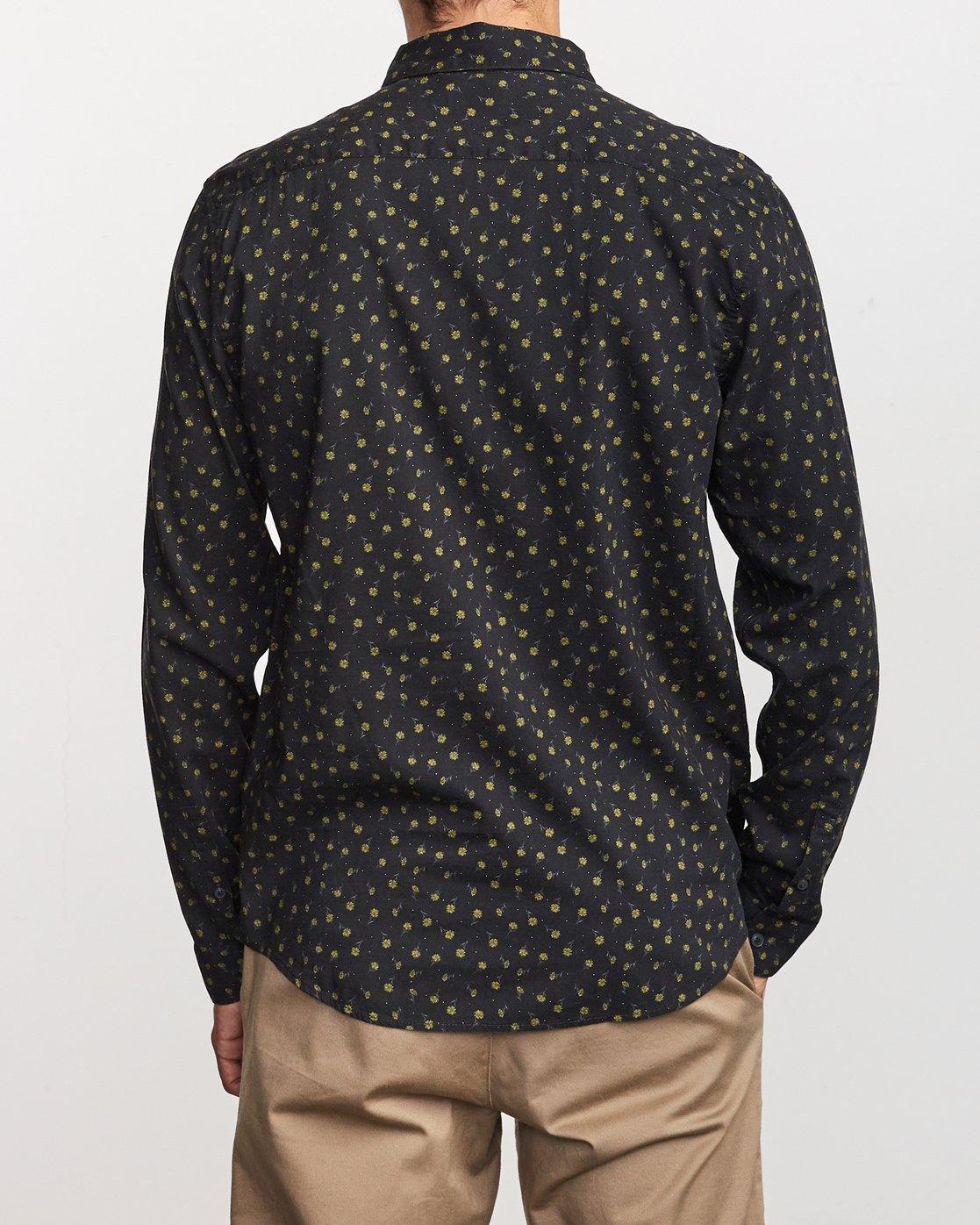 3 Prelude Floral  - Long Sleeve Shirt Black Q1SHRBRVF9 RVCA