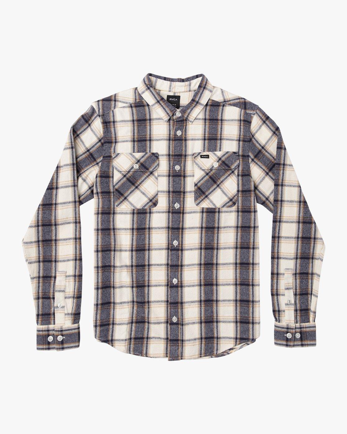 0 That'll Work Flannel  - Long Sleeve Shirt Silver Q1SHRERVF9 RVCA