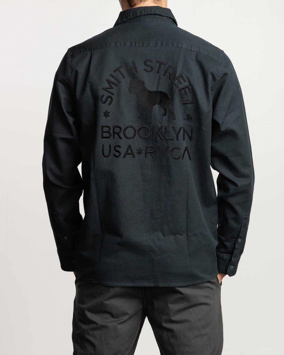 4 Smith Street  - Long Sleeve Shirt Black Q1SHRHRVF9 RVCA