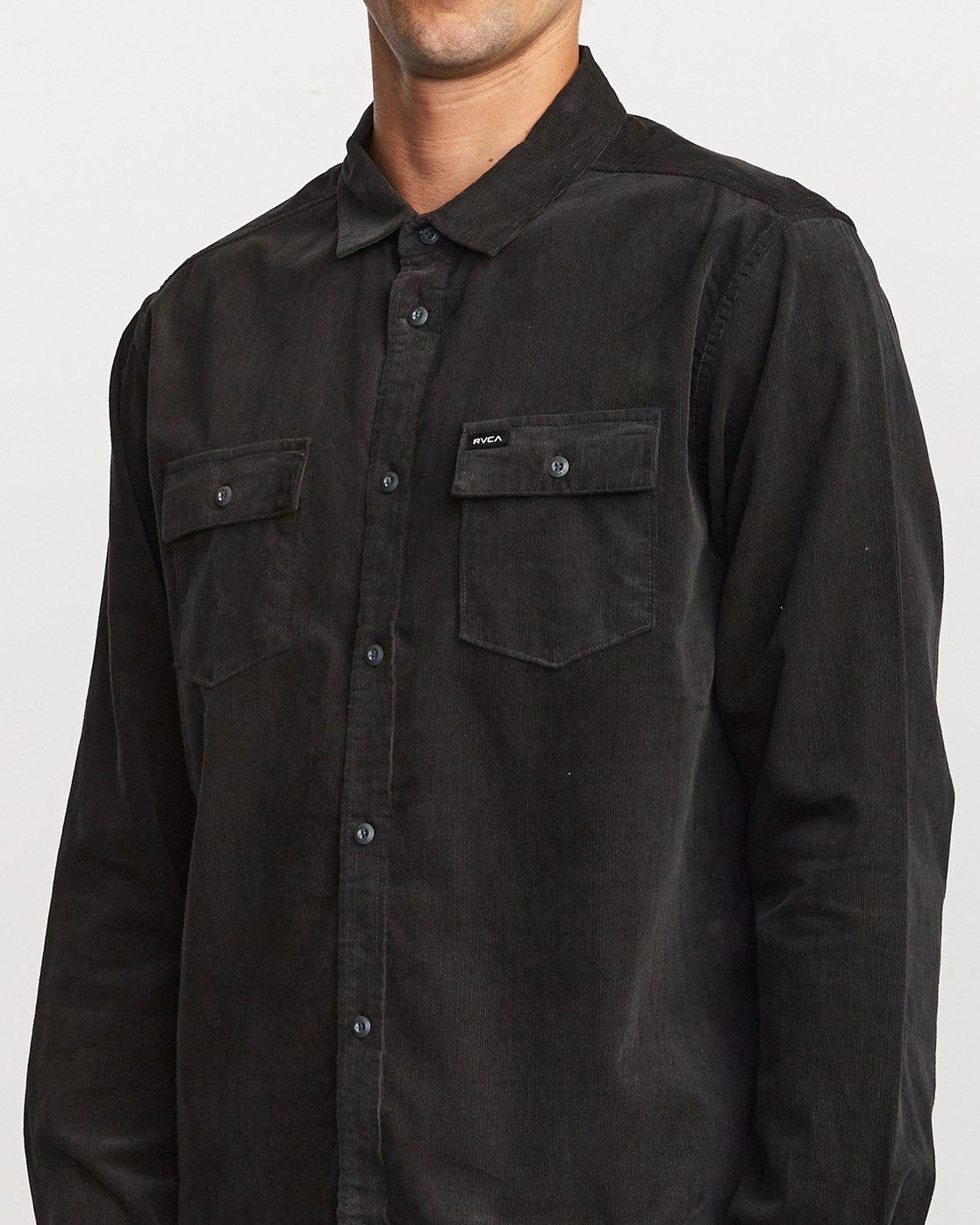 5 Freeman Corduroy  - Long Sleeve Shirt  Q1SHRMRVF9 RVCA